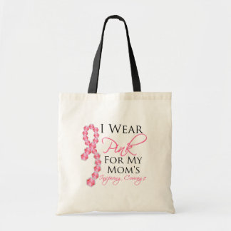 Mom's Inspiring Courage - Breast Cancer Budget Tote Bag