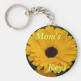 Mom's Keys Basic Round Button Key Ring