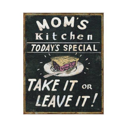 Mom's Kitchen Canvas Print