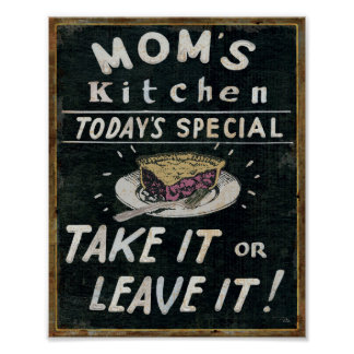 Mom's Kitchen Poster
