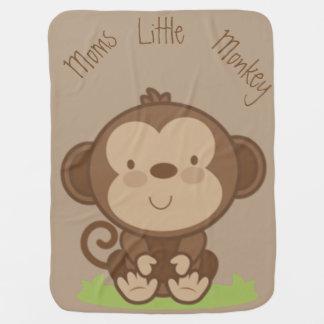 Moms Little Monkey Receiving Blankets