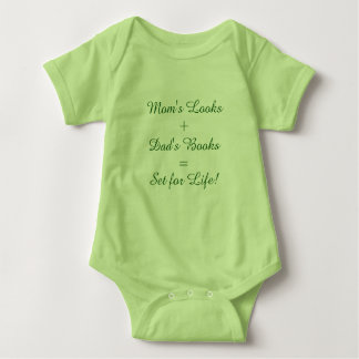 Mom's Looks + Dad's Books = Set for Life! Baby Bodysuit