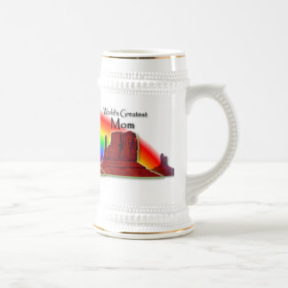 Mom's Loving Hands Rainbow Stein Mug