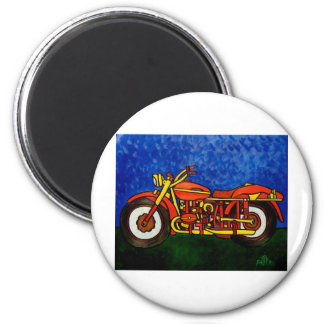 Moms Motorcycle 6 Cm Round Magnet