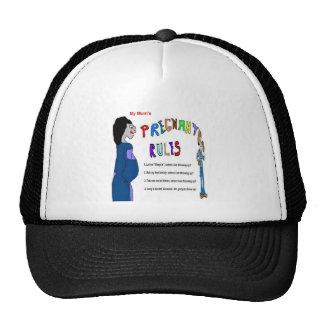 Moms Pregnant Rules Trucker Hats