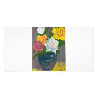 Mom's Roses Photo Greeting Card