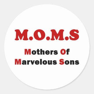 Moms Round Sticker