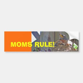 Moms Rule! Car Bumper Sticker