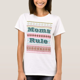 Moms Rule Cool Colorful Tshirt Unique Gifts Her