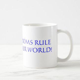 Moms Rule Our World! Basic White Mug