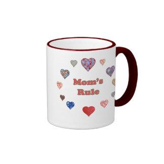 Mom's Rule Ringer Mug