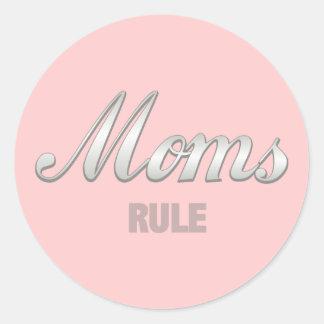 Moms Rule Round Sticker
