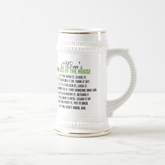 Mom's Rules of the House Beer Steins