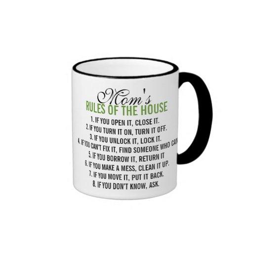 Mom's Rules of the House Mug
