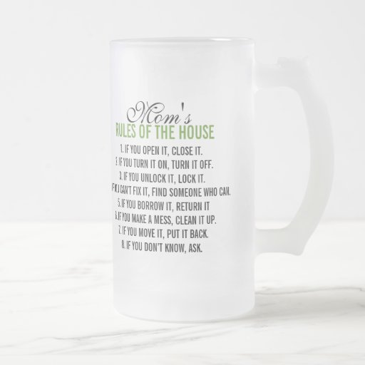Mom's Rules of the House Mugs
