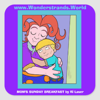 Mom's Sunday Breakfast Large Sticker