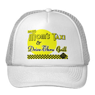 Moms Taxi and Drive-Thru Grill Mesh Hat