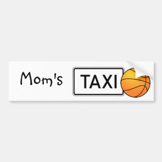 Mom's Taxi Basketball Bumper Sticker