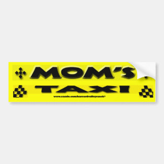 Mom's Taxi Bumper Sticker