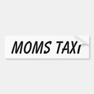 MOMS TAXI CAR BUMPER STICKER