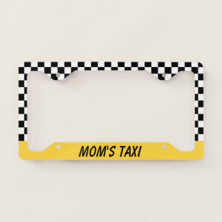 Mom's Taxi Car Auto License Plate Frame Gift
