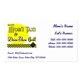 Mom's Taxi Custom Kids Retro Calling Business Card