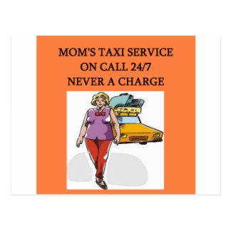 mom's taxi postcard