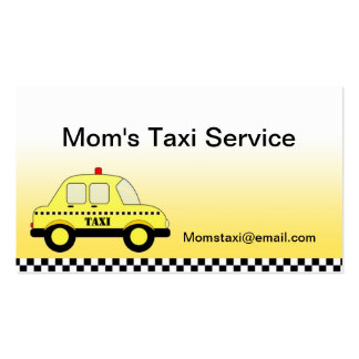 Mom's Taxi Profile Cards Business Cards