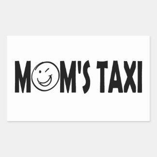 MOM's TAXI Rectangular Sticker