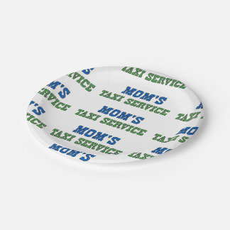 Moms Taxi Service 7 Inch Paper Plate