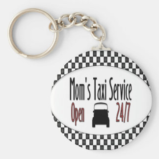 Mom's Taxi Service Basic Round Button Key Ring