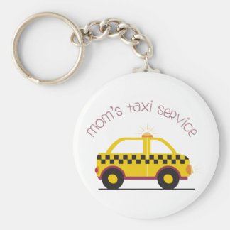 Moms Taxi Service Basic Round Button Key Ring