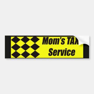 Mom's Taxi Service Bumper Sticker Car Bumper Sticker