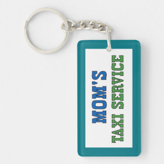 Moms Taxi Service Double-Sided Rectangular Acrylic Key Ring