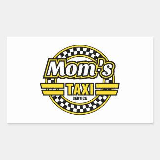 Mom's Taxi Service Logo Rectangular Sticker