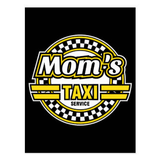 Mom's Taxi Service Postcard