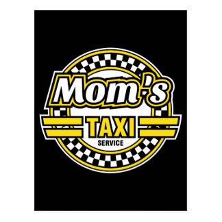 Mom's Taxi Service Postcard