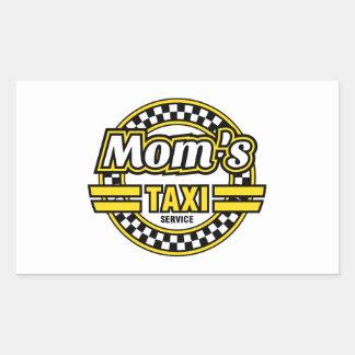 Mom's Taxi Service Rectangular Sticker
