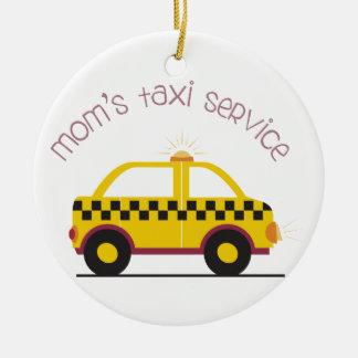 Moms Taxi Service Round Ceramic Decoration