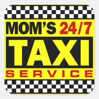 Mom's Taxi Service Square Sticker