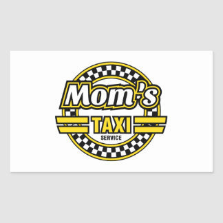 Mom's Taxi Service Stickers