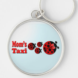 Mom's Taxi Silver-Colored Round Key Ring