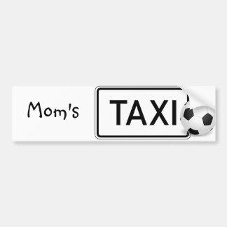 Mom's Taxi/Soccer Bumper Sticker