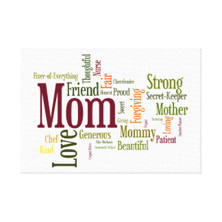 Mom's The Word! Gallery Wrap Canvas