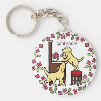 Mom's Yellow Lab Puppy Duo Keychains
