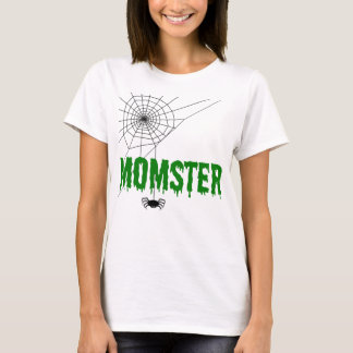 Momster Dripping Green Font Spider Web T-Shirt