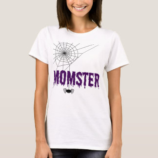 Momster Dripping Purple Font Spider Web T-Shirt