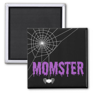 Momster Purple Dripping Font Spider Web Magnet