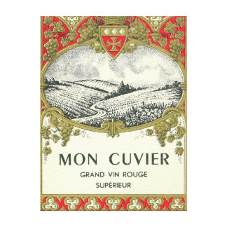 Mon Cuvier Wine LabelEurope Canvas Print