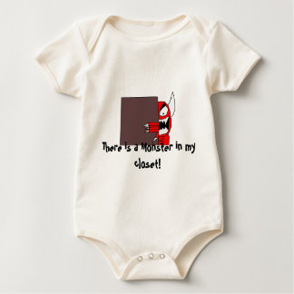 mon, There is a Monster in my closet! Baby Bodysuits